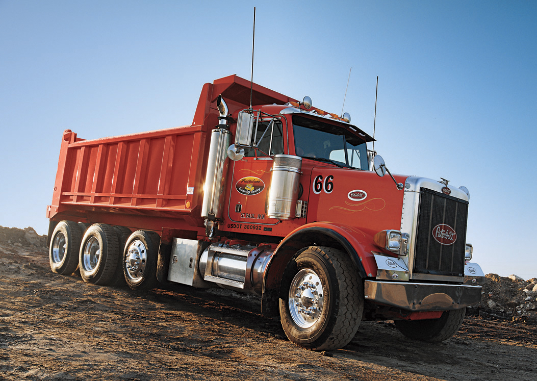 Dump Truck - Hauling Waste to be Recycled for LEED