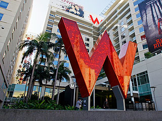 The W Hollywood Sign Close Up