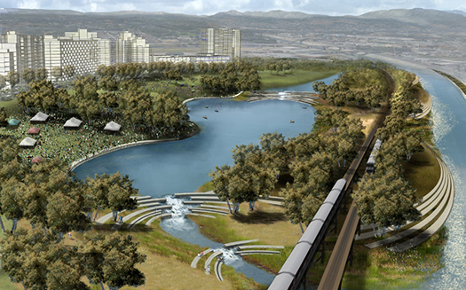 Rendering from LA River Revitalization Master Plan.